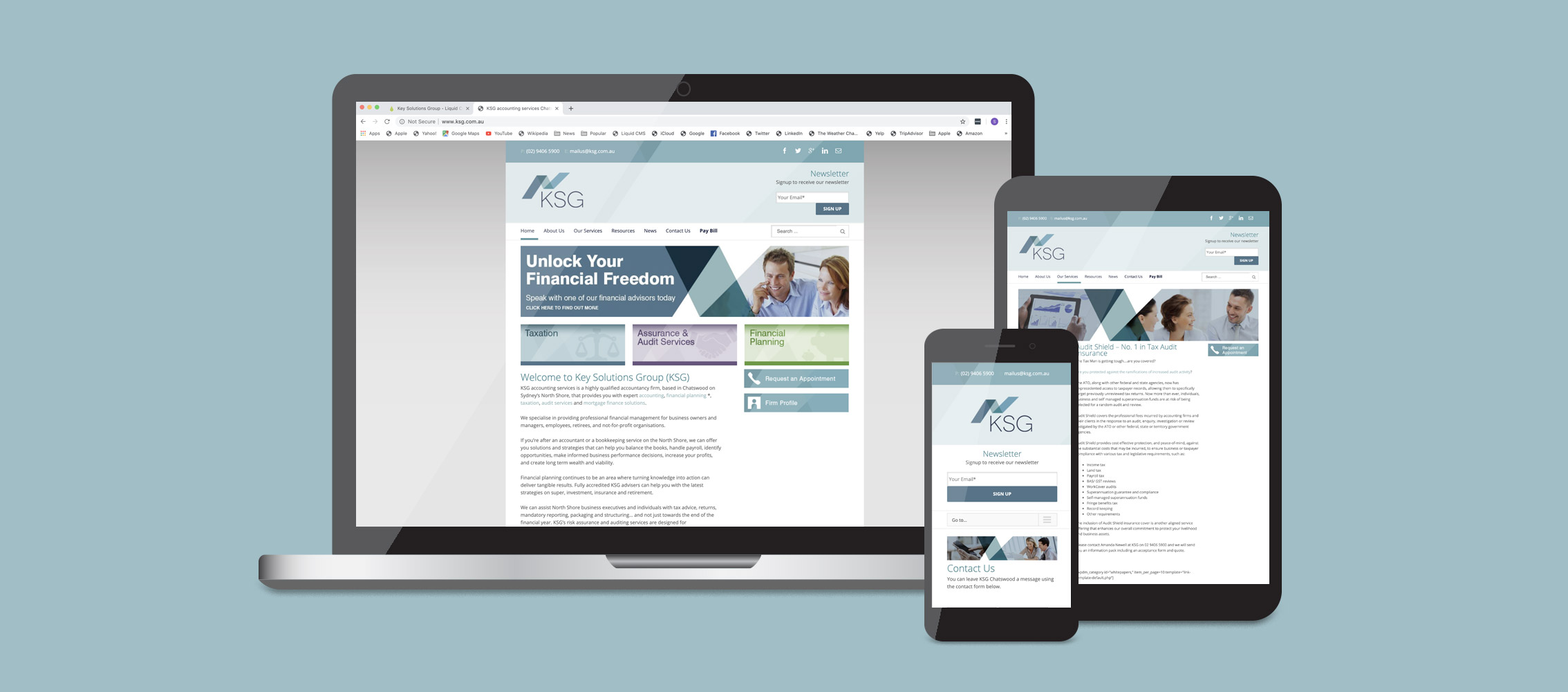 Key Solutions Group Website Design