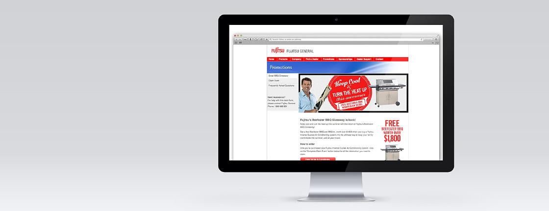 Fujitsu Generals Promotional Claims Micro Site