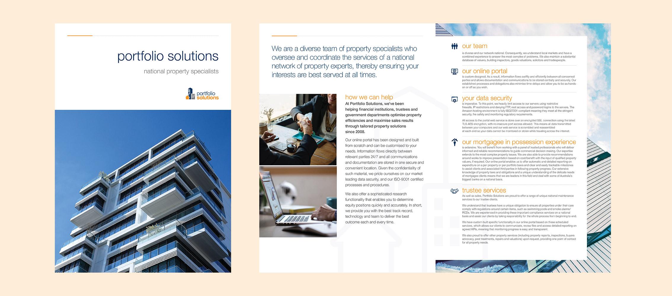 Portfolio Solutions Brochure Design