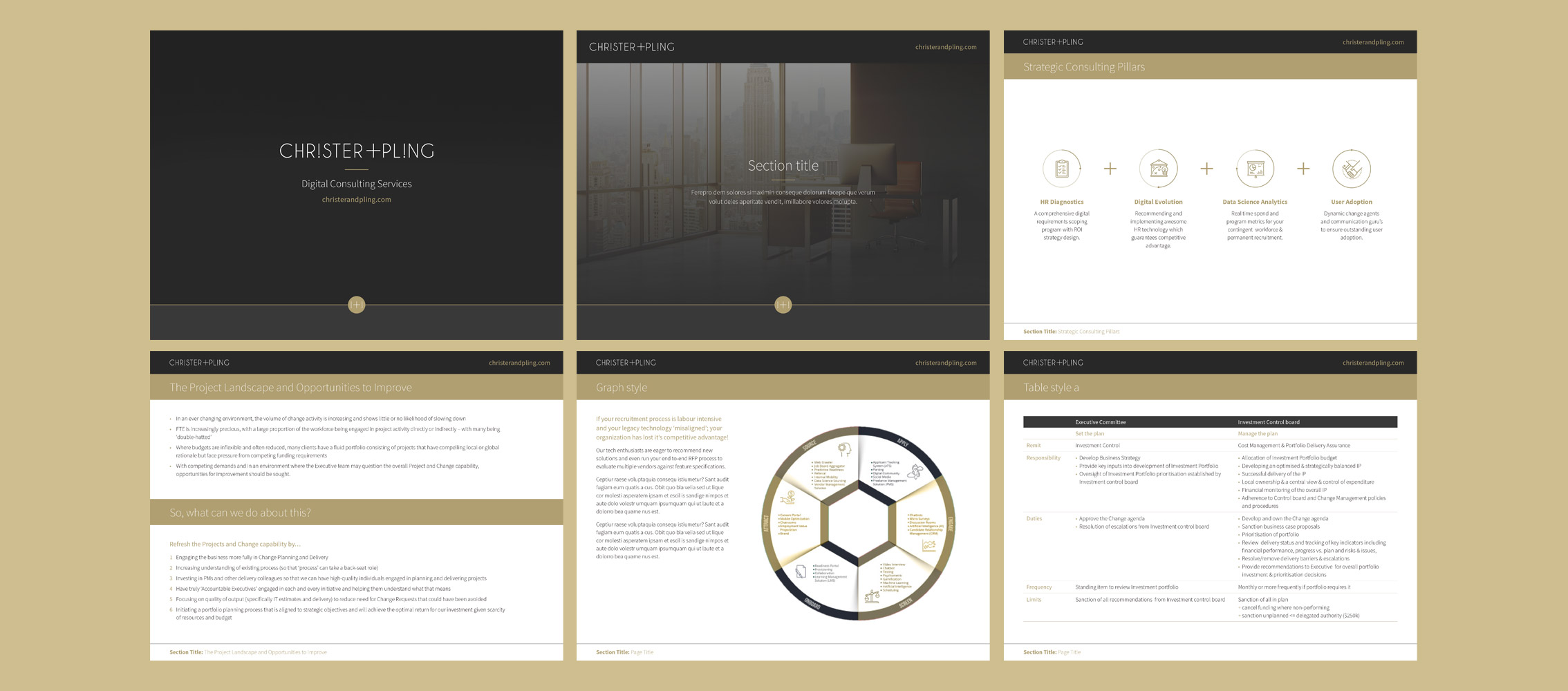 Chirster and Pling Powerpoint Presentation design