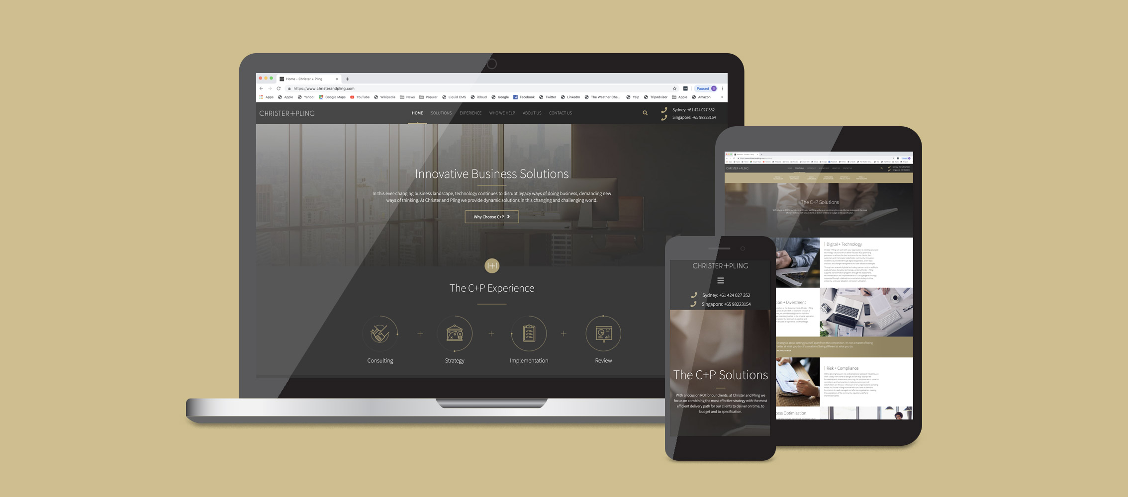 Christer and Pling Website design