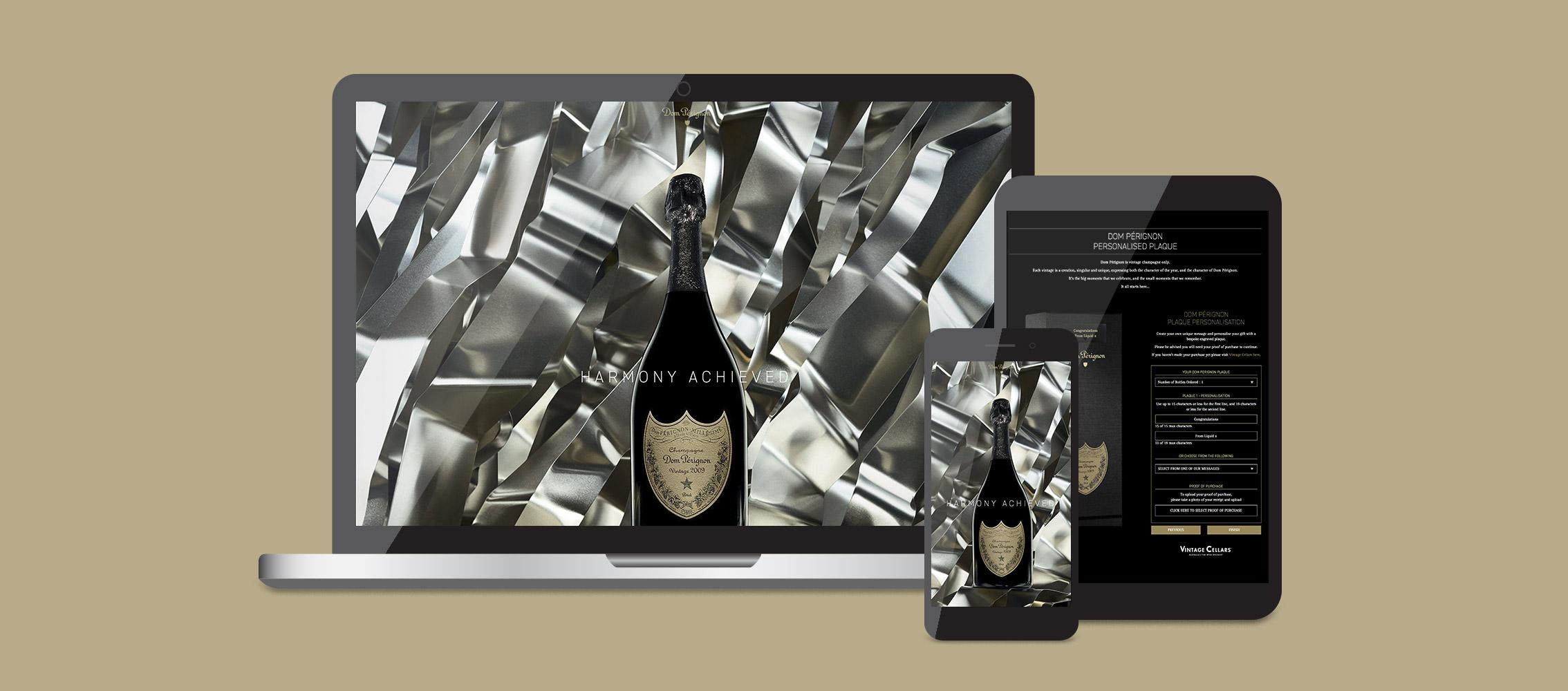 Dom Pérignon Microsite Design and Development