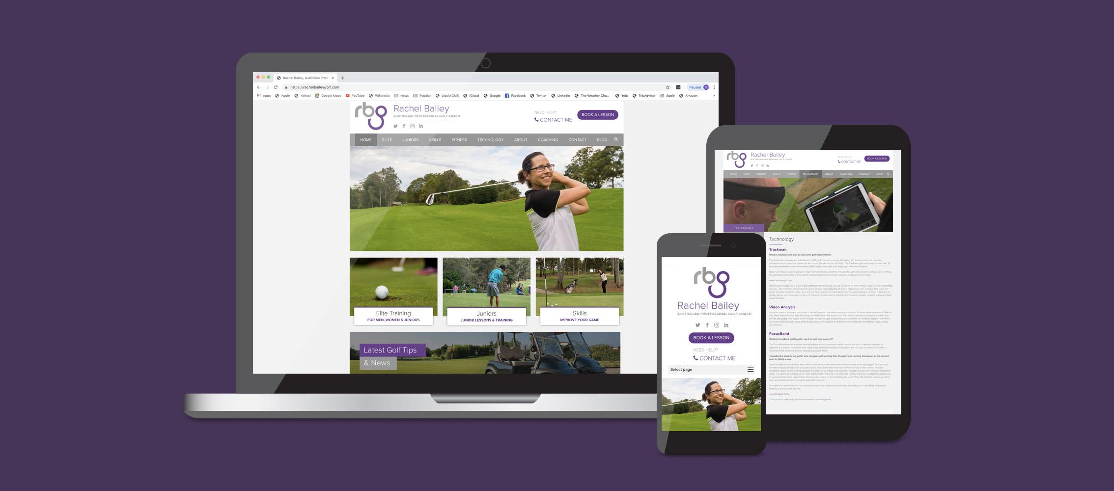 Rachel Bailey Website Design