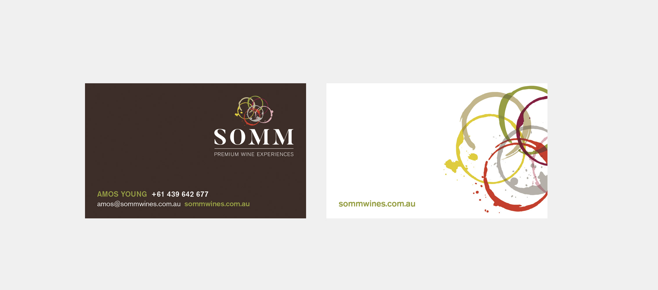 SOMM Business Card Design